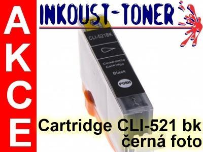 Inkoustová kazeta CLI-521 bk černá foto pro Canon