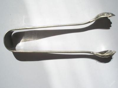 Kleštičky na cukr stříbro