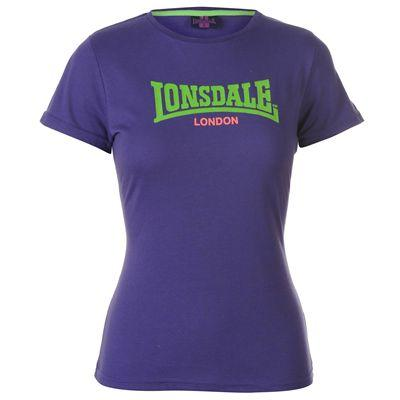 Dámské fialové tričko Lonsdale, velikost XL