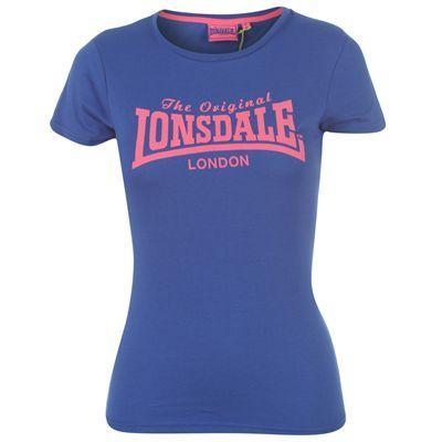 Dámské  modré tričko Lonsdale, velikost XS
