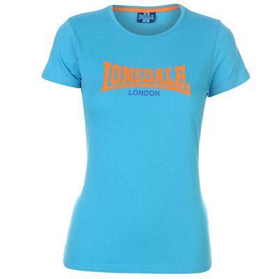 Dámské světle modré tričko Lonsdale, velikost XXL