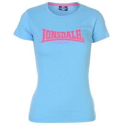 Dámské světle modré tričko Lonsdale, velikost L