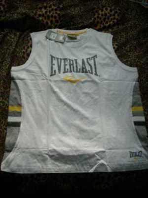 Pánské bílé  tričko EVERLAST bez rukávů, velikost L