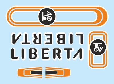 Rámové polepy na jízdní kolo Liberta