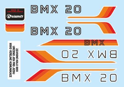 Rámové polepy na jízdní kolo Velamos BMX 20