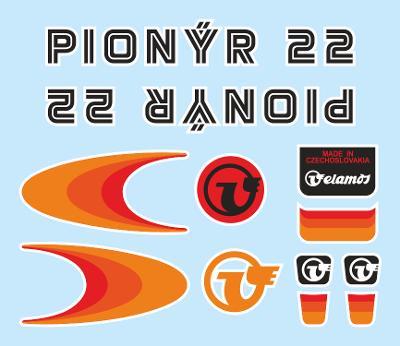 Rámové polepy na jízdní kolo Velamos Pionýr 22