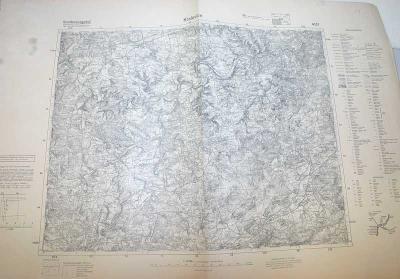 MAPA 4051 - KRALOVICE  / NĚMECKÁ  VERZE/ 1936