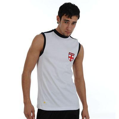 Pánské bílé tričko bez rukávů ENGLAND, velikost L