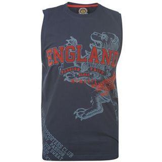 Pánské modré tričko bez rukávů ENGLAND, velikost L