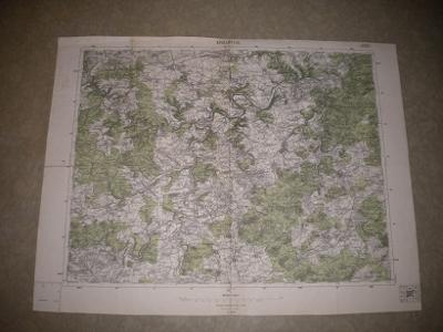 mapa Kralovice - 1:75 000 - 1937
