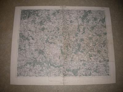 mapa Sedlčany- 1:75 000 - 1934