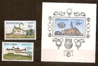 Slovensko 1998 kat.č.Mi306+307+308/Zb146+147+148