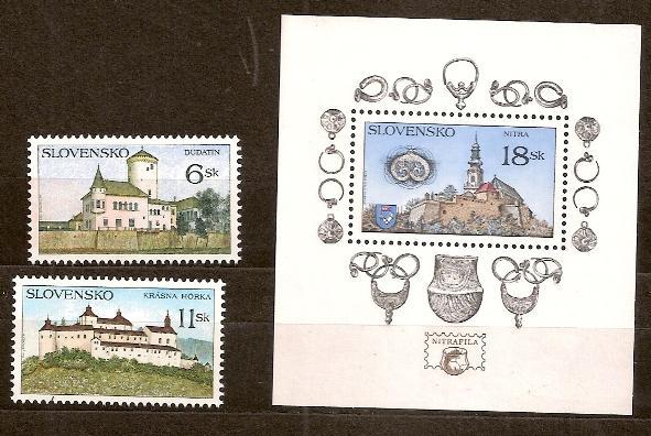 Slovensko 1998 kat.č.Mi306+307+308/Zb146+147+148 - Filatelie