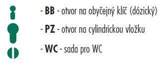 Dveřní kování Onyx MODENA  chrom - Provedeni: BB - Stavebniny