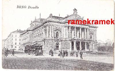 Brno divadlo tramvaj feldpost polní pošta