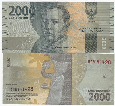 Indonézia 2000 rupiah 2016 UNC