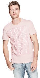 Pánské růžové tričko Guess - Dylan vel. XS,L-699kč