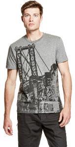 Pánské šedé tričko Guess-Foxen Crewneck vel.XS,S,L