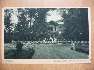 KOŠICE - Gajdove kúpele, zahradná reštaurácia