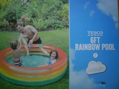 Velký Duhový bazén, průměr 190 x 50cm, silný materiál, PC 800,-Kč