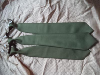 Kravata - vázanka ačr - olivová - khaki - zelená