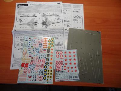 BEGEMOT 48-005 Obtisky letadla Su-27 část #2 / 1:48