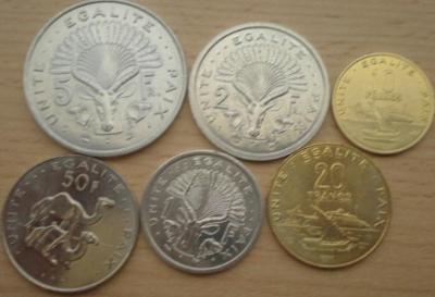 Djibouti 6 mincí