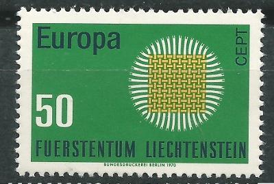 Lichtenštejnsko 1970 Evropa CEPT Mi# 525 0001