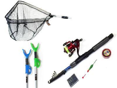 Rybářská sada s podběrákem a vidličkami