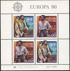 Portugalsko 1980 Evropa CEPT Mi# Block 29 0024