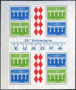 Monako 1984 Evropa CEPT Mi# Block 26 Kat 17€ 0042