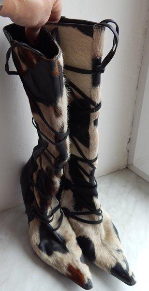 Úžasné kožené country kozačky made in Spain vel.40