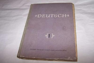 DEUTSCH 1 r. 1960 němčina /Kš38/