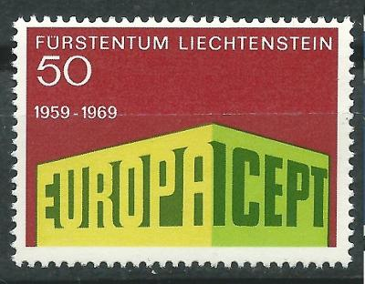 Lichtenštejnsko 1969 Evropa CEPT Mi# 507 0052
