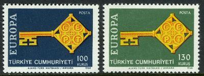 Turecko 1968 Evropa CEPT Mi# 2095-96 0056
