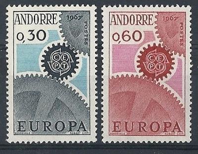 Andorra Fr. 1967 Evropa CEPT Mi# 199-200 0056