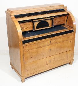 Cylindrový psací stůl biedermeier