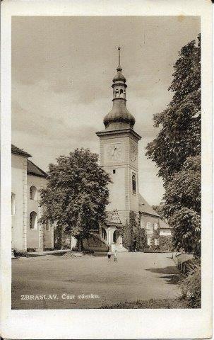 Praha - Zbraslav , část zámku