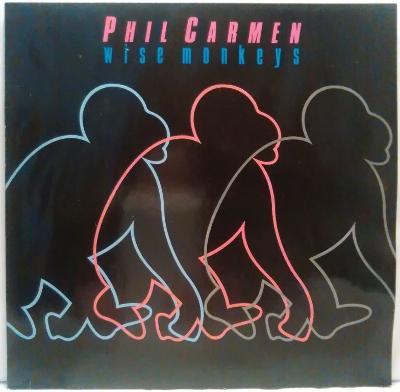 LP Phil Carmen - Wise Monkeys, 1986 EX