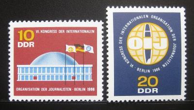 DDR 1966 Novinářská organizace Mi# 1212-13 0478