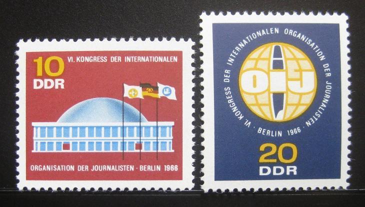 DDR 1966 Novinářská organizace Mi# 1212-13 0478 - Filatelie