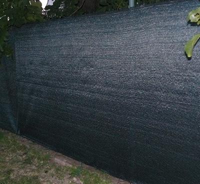 Stínící síť na plot 90 % zelená - výška 1 m
