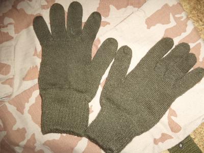 Zimní pletené rukavice olivové khaki ačr čsla