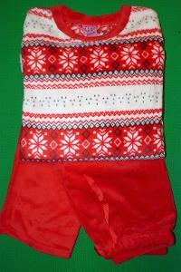 Dámské pyžamo mikro plyšové vel. L, XL