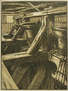 Týn u Rovenska - K.Vik orig.dřev. 1929 - (F552)