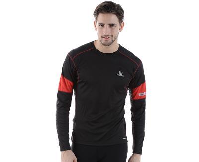 Pánské funkční triko Salomon Agile LS černé, XL