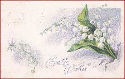 Květiny * konvalinky, květiny, tlačená, gratulační * M1937