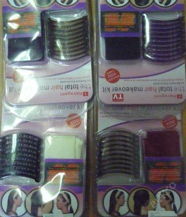 01668 spony s čelenkou- znáte z TV hnědá