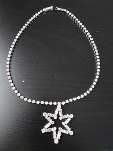 Strassový velký kolier s hvězdou, Jablonecko