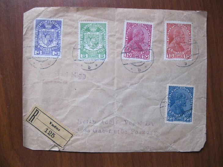 Dopis z Vaduzu /liechtenstein/ do Bratislavy - Filatelie